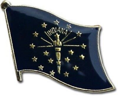 State of Indiana IN Flag Bike Motorcycle Hat Cap lapel Pin