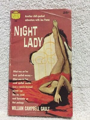 Night Lady William Campbell Gault 1958 Crest 260 vintage paperback PBO mystery