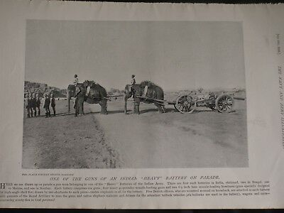 GUNS OF AN INDIAN HEAVY BATTERY ON PARADE & D Battery, Horse..1896 Photoprints
