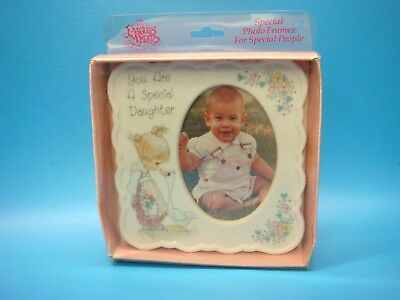 "Precious Moments PICTURE FRAME A SPECIAL DAUGHTER 4"" ceramic ENESCO 249297"
