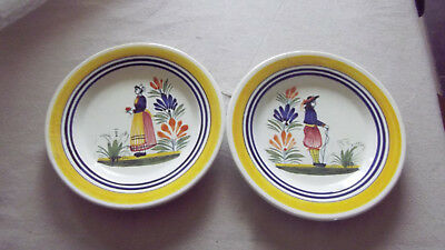2 Assiettes Henriot Quimper