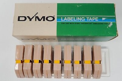 """DYMO Embossing Labeling Tape 9 Rolls Boxed 1/4"""" X 12' YELLOW Glossy"""