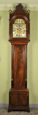Superb London Mahogany Pagoda Longcase Grandfather Clock