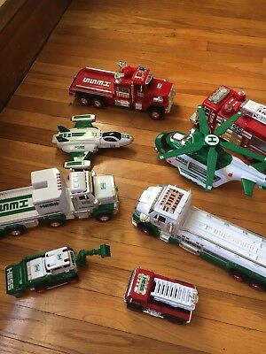 Lot of 8 Hess Trucks Helicopter and Space Plane Various Years