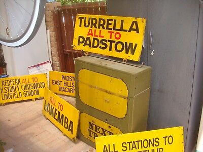 Railway Signs Next Train Box With 5 Sign Double Side Come With Metal Box And Sta