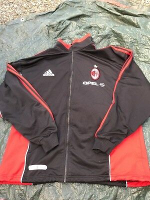 ADIDAS AC MILAN Training Full ZIP Track Jacket Opel Soccer Men's Xl Big Logo