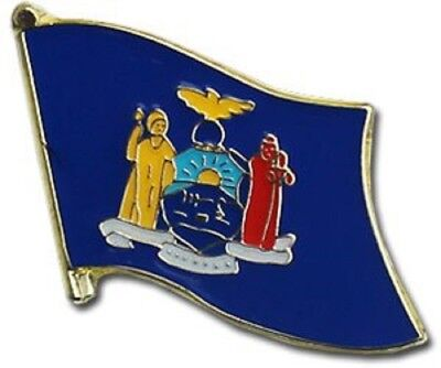 State of New York NY Flag Bike Motorcycle Hat Cap lapel Pin
