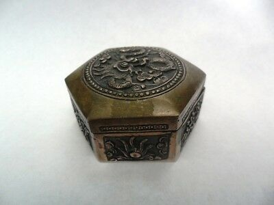 Small Chinese Silver Box for Medicine 19th Century