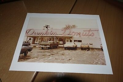 Vintage Photo Dunkin Donuts Dedham Massachusetts