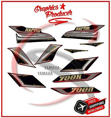 Yamaha Raptor 700 Replica Decals Graphics Kit Stickers Reproduction Set 2009