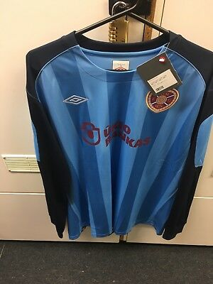 Heart Of Midlothian goalkeeper shirt. Unused, still with club shop tag attached.