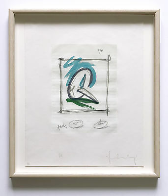 Claes Oldenburg Hand Signed Numbered Ltd. Ed. Color Etching/Aquatint 1980 Framed