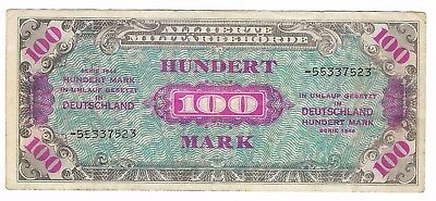 GERMANY 100 MARK 1944 P 197d. WITH DASH. Circulated