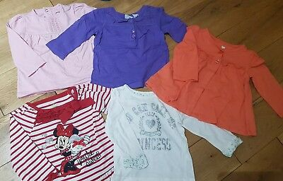 Baby girl 6-9 months long sleeve tops bundle Minnie Mouse
