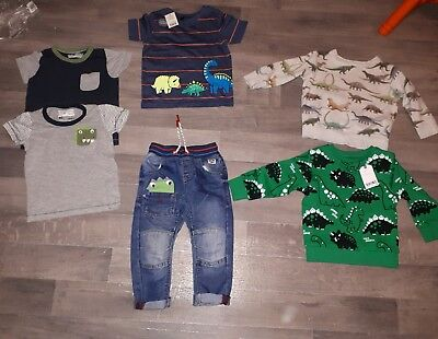 boys Next 18-24 bundle monster jeans tops dino jumpers top tshirt New/VGC