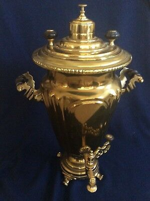 Antique Imperial Russian Tombak Gild Brass  Samovar Tula Batashov
