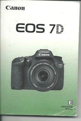 Manual and Instructions for Canon EOS 7D Camera