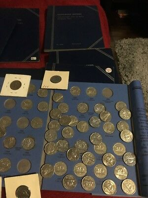 13 Canada Nickel Books  of 1922-and On Whitman Folders Plus Rolls Of Nickels