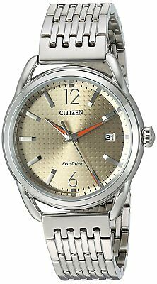 Citizen Eco-Drive Women's FE6080-54X Brown Dial Silver Tone Bracelet 34mm Watch