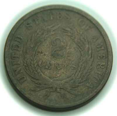 1864 Two Cent Piece - Large Motto - 2C - No Reserve!
