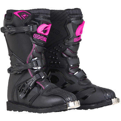 Oneal NEW 2018 Youth Mx Rider Black Pink Dirt Bike Kids Girls Motocross Boots