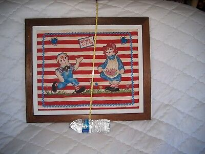Raggedy Ann & Andy Weaved Cloth Picture