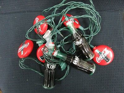 Coca Cola String Light Set Coke Bottles *USED* in Working Condition