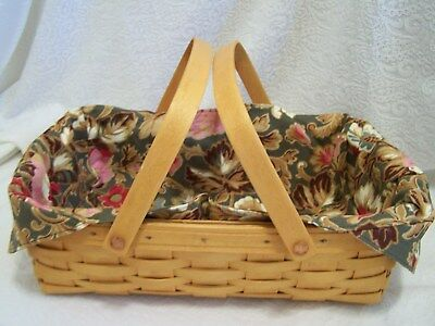 LONGABERGER LINER ONLY for SMALL OVAL GATHERING BASKET MAJOLICA GARDEN   NIB