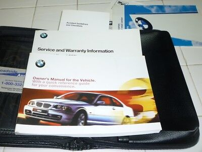 2001 bmw owners manual kit with nav leather portfolio all books rh picclick com 2001 BMW 325Ci 2001 325 Red