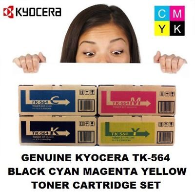 Genuine Kyocera TK-564 KCMY 4 Colour Toner Set Black,Cyan, Magenta, Yellow