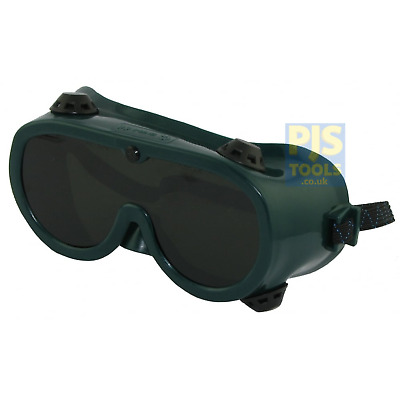 Panorama shade 5 green gas welding & brazing goggles indirect vent