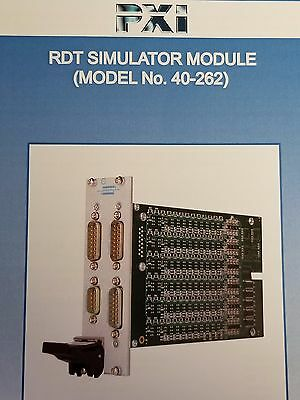 Pickering 40-262-102 PXI RTD Simulator Module 6-Channel PT1000