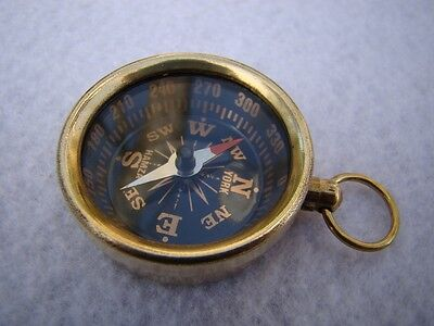 Brass Pocket Compass - Necklace Pendant - Old Vintage Antique Style