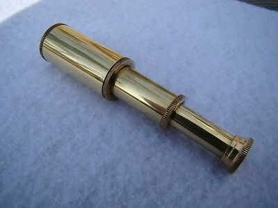 Brass Pocket Telescope - Mini Hand Held Pirate Spyglass - Nautical Maritime