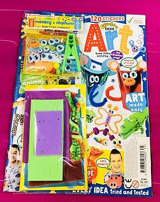 CBeebies ART Magazine #125 - FREE All You Need To Make Set! (BRAND NEW)
