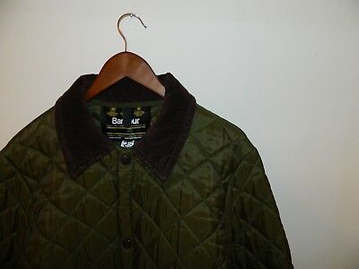 Authentic Vintage 80's Barbour Quilted Jacket Heritage Green Made in England