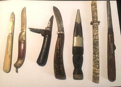Vintage Collection Of Knives And Penkives Sheffield, Witness, Chinese, Wingfield