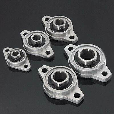 KE_1Pc 8-35mm KP/KFL08 - 007 Zinc Alloy Rhombic Mounted Pillow Block Bearing HOT