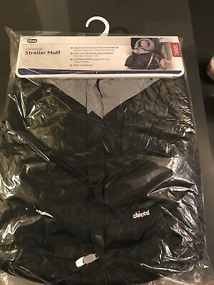 Chicco Universal Stroller Foot Muff Black and Gray/ BRAND NEW with TAGS,package.