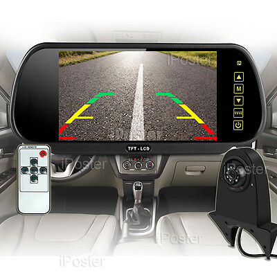 """7"""" Car Rear View Mirror Monitor + Backup CCD Camera For Benz Sprinter/VW Crafter"""