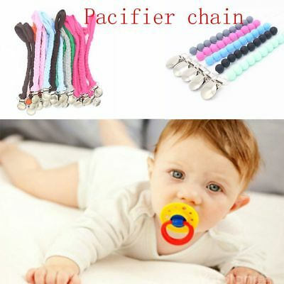 1/10 Pcs Colored Baby Braided Faux Leather Pacifier Chain Strap Pacifier Clips
