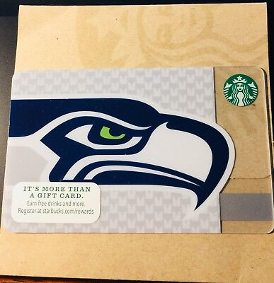 NEW Starbucks SEATTLE SEAHAWKS Original GIFT CARD 2013 Limited Edition