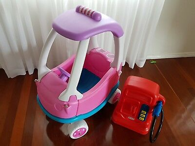 Little tikes petrol pump and childrens ride on car