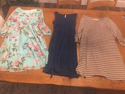 Lot of Maternity Spring/Summer Dresses Size S Pink Blush and Old Navy