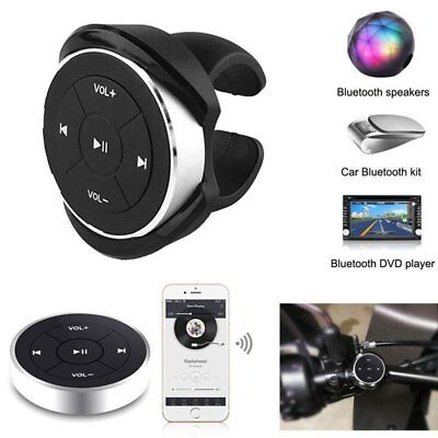 Bluetooth Media Button Remote Music Controller Clip on Handlebar Mount for Phone