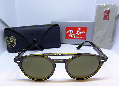 04095f34ec New Ray Ban Double Bridge Brown Tortoise Round Shape Sunglasses Rb4279  710 73