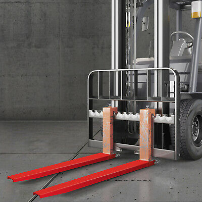 84x5.2'' Forklift Pallet Fork Extensions Pair lift Truck Fit 4Width Retaining