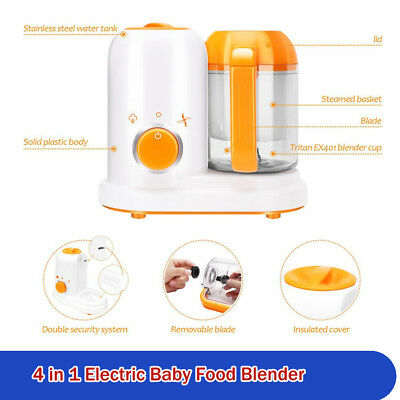 Baby Food Maker Blender Cooker 4 in 1 Steam Reheat Defrost Electric Safe Healthy