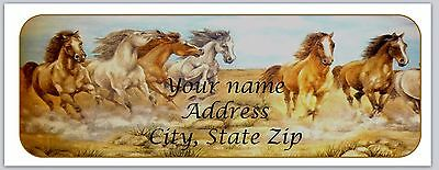 30 Personalized Return Address Labels Horses Buy 3 get 1 free (bo 173)