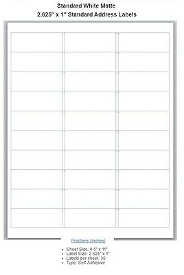 Blank address labels choose from different sizes.Buy 3 get 1 free (bl2)